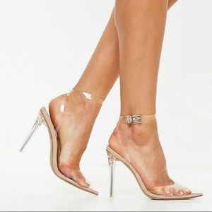 Missguided Shoes - Nude Perspex heels 39
